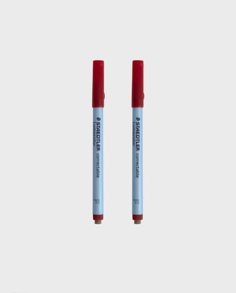 Zwei Stifte mit roter Tinte für den wiederverwendbaren Asoki Planer, trocken entfernbar