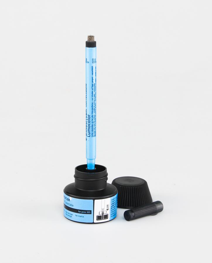 Schwarze Nachfüllstation für den löschbaren Stift