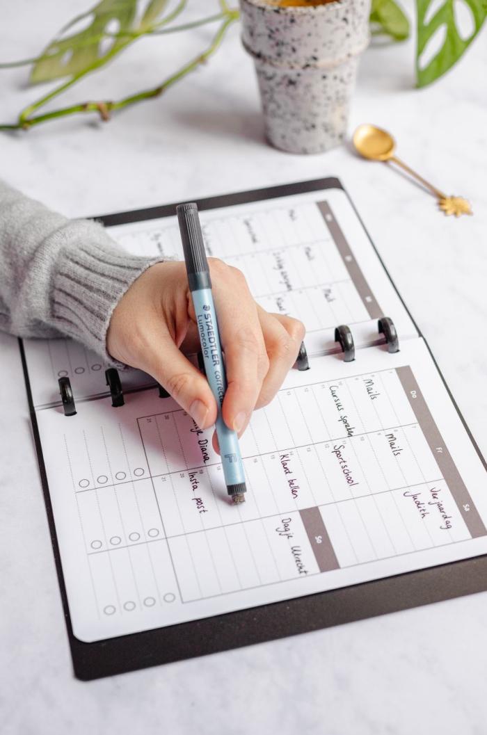 löschbarer Notebook Monat