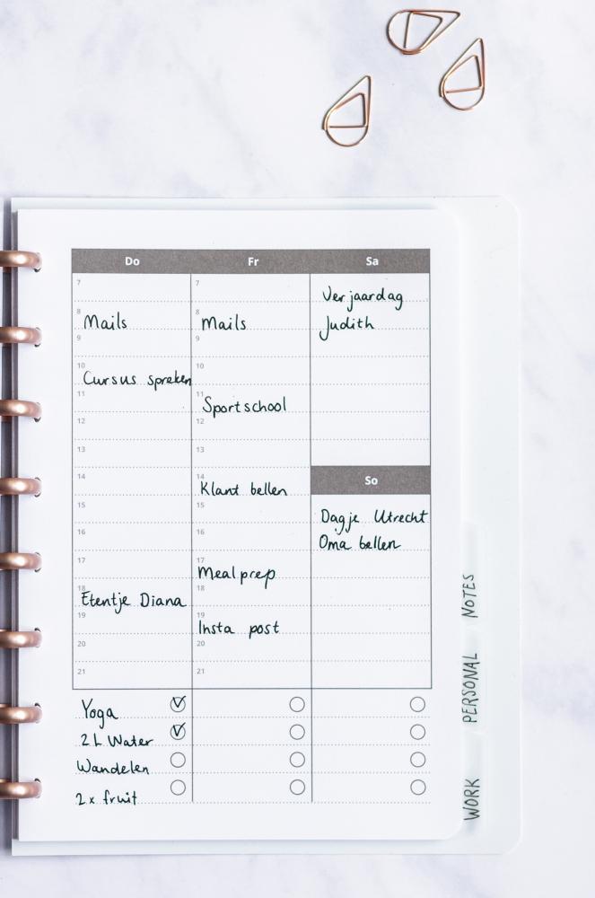 löschbarer Notebook Produktivitätsplaner