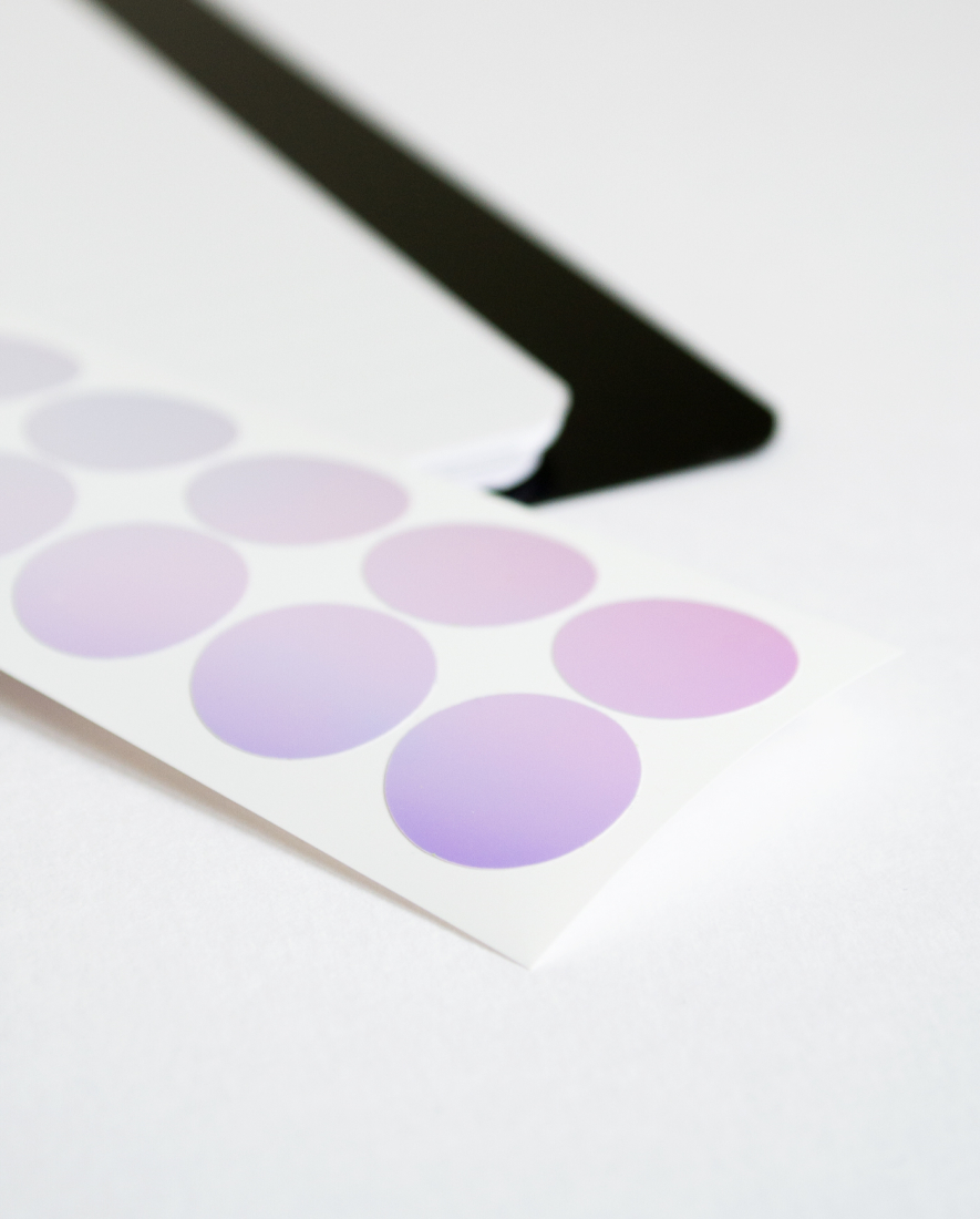 Sticker in Spiegeloptik für die Ringbindung des Zero Waste Asoki Planers