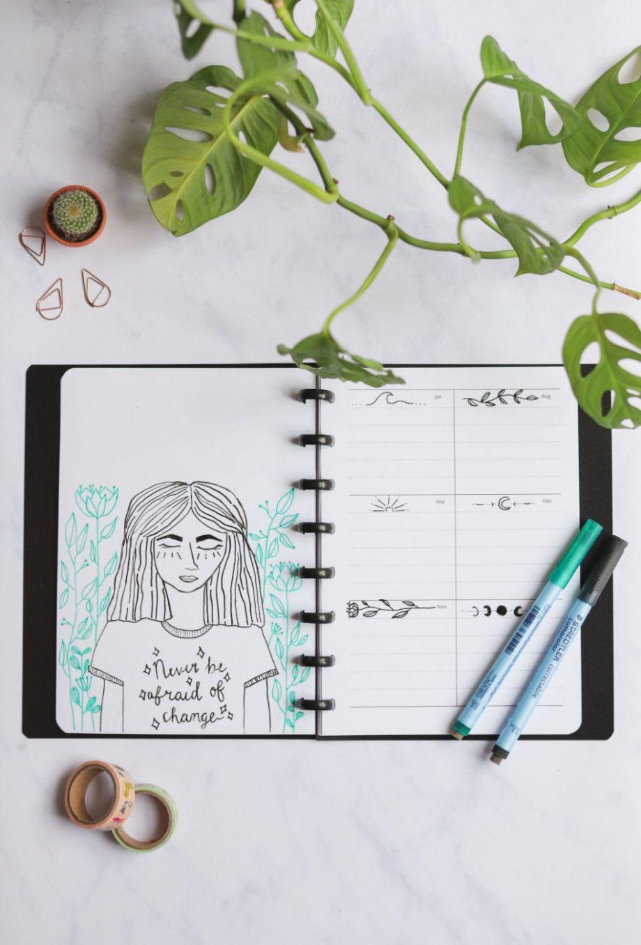 Wiederverwendbarer und löschbarer Jahresplaner für den Asoki Kalender