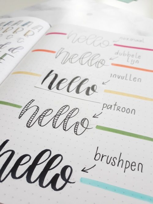 Faux calligraphy pinselstift