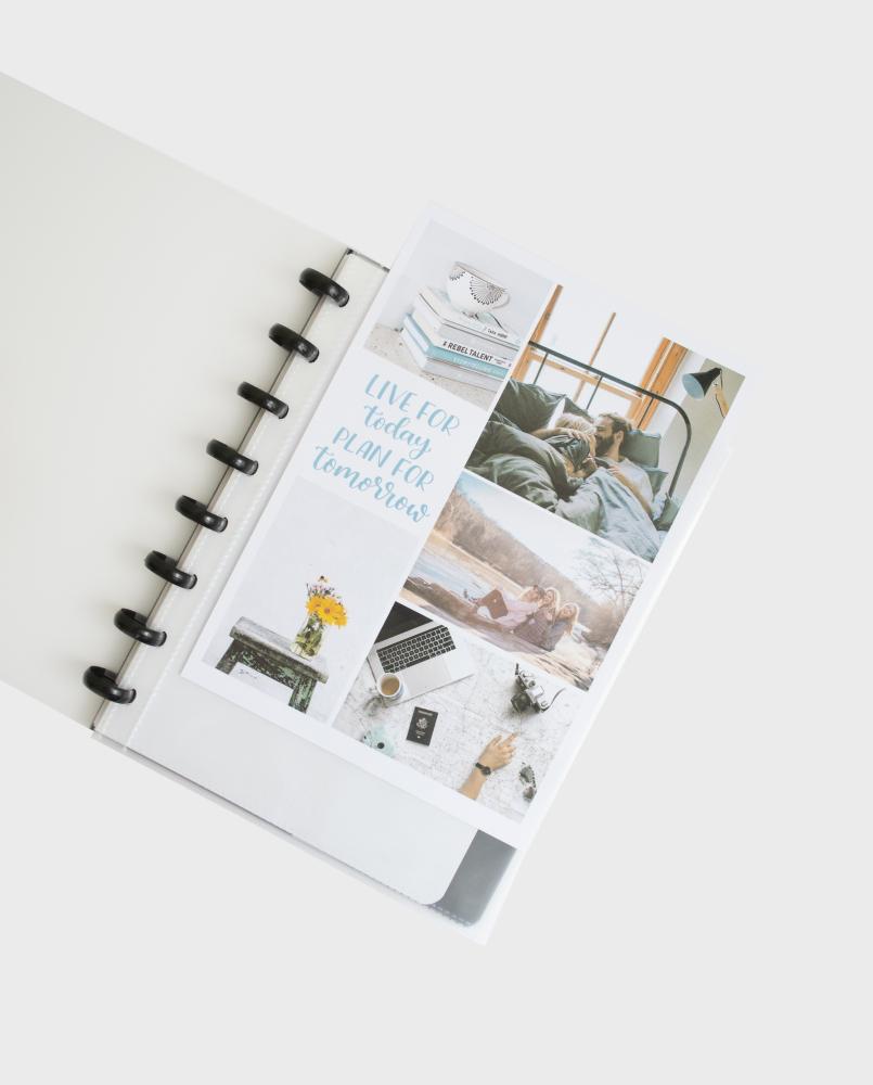 Das personalisierbare Cover des Asoki Planer Transparent mit Bildern
