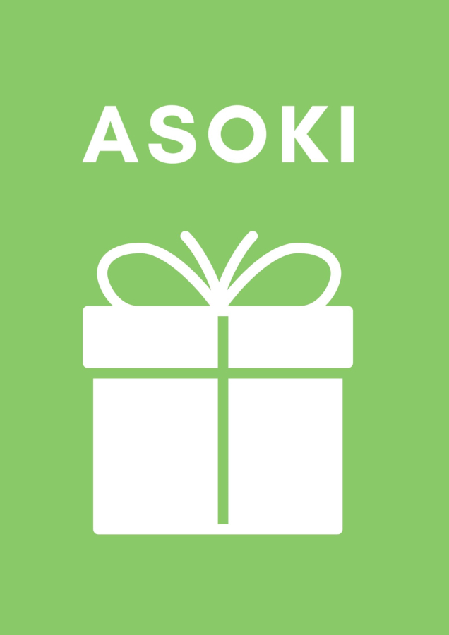 Asokis digitaler Geschenkgutschein Wähle einen Geschenkwert oder gib einen selbst gewählten Wert ein