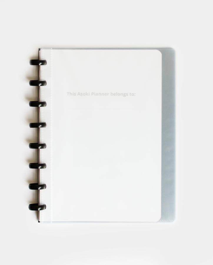 Der Asoki Planer Transparent mit personalisierbarem Cover: Erstelle deinen eigenen Planer
