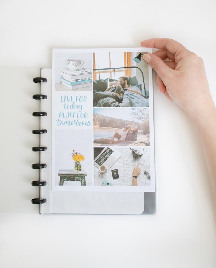 Personalisiertes A5 radierbares whiteboard Notizbuch mit eigenen Bildern Fotos oder Kunst