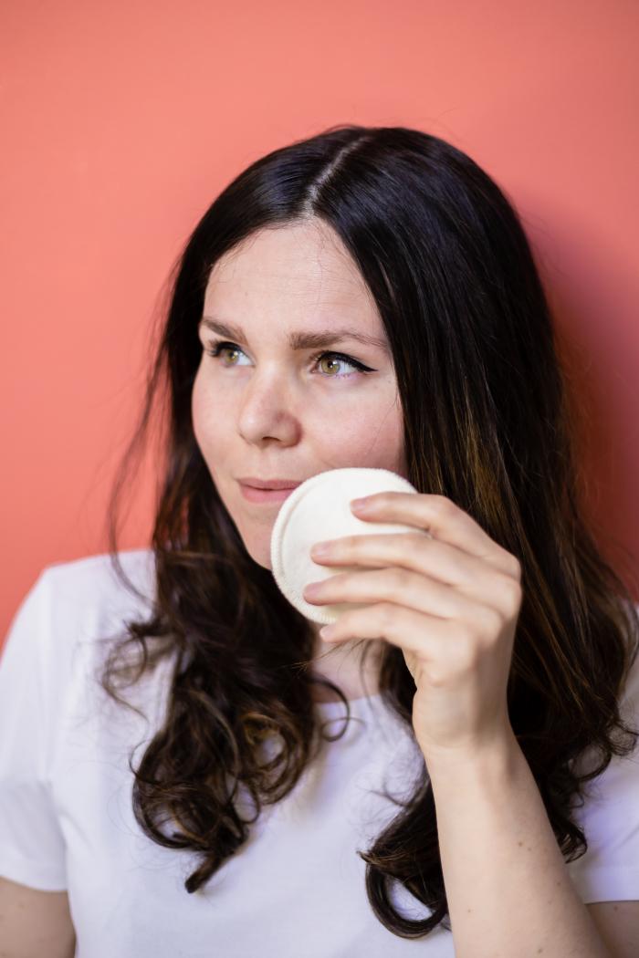 Wiederverwendbare Makeup-Entferner Pads aus Hanf