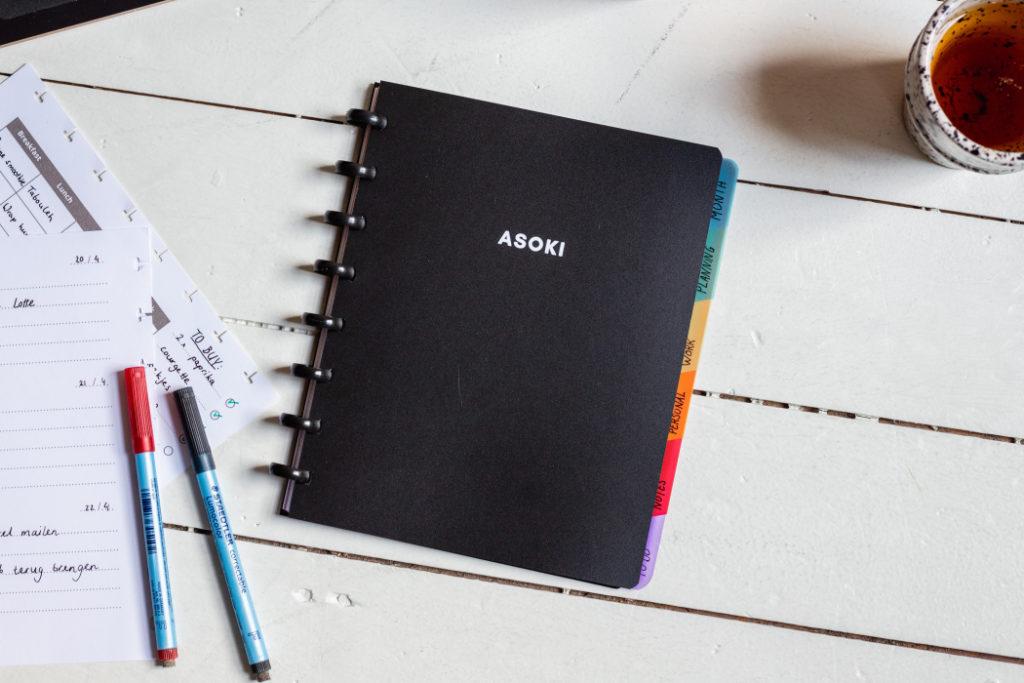 Wiederverwendbare notizbuch schwarz A5 Cilla