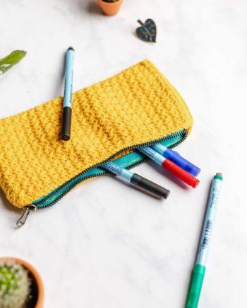 Federtasche aus Baumwolle mit Reißverschluss