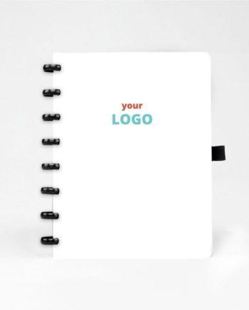 Löschbares Notizbuch als Werbeartikel mit bedruckbarem weißem Cover