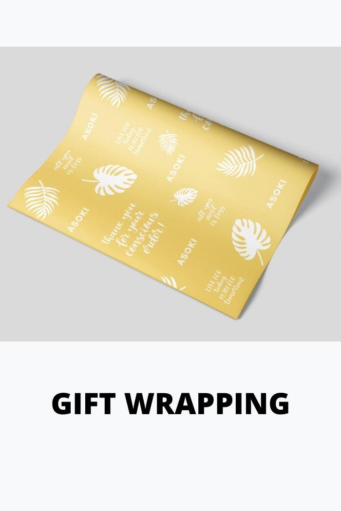 Geschenkverpackung Seidenpapier pro Notizbuch